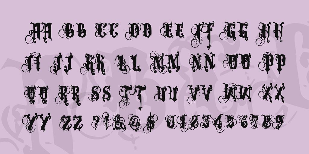 萬聖節恐怖字體 下載