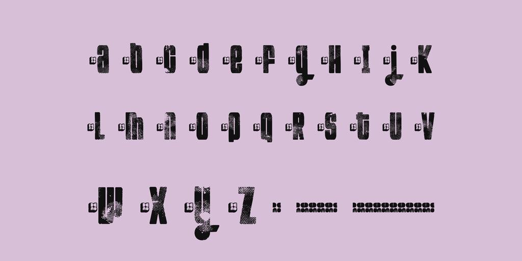 特殊印刷字體 下載