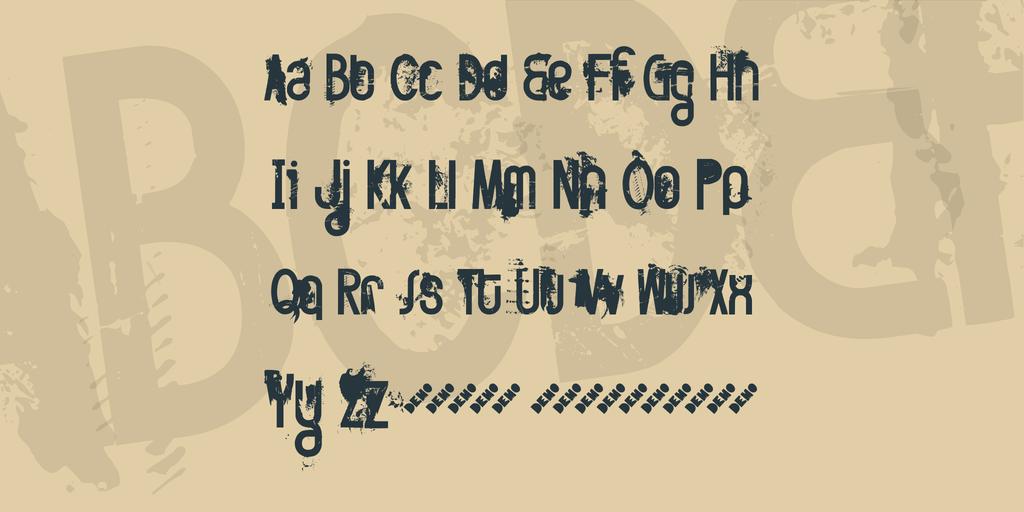 斑駁海報字體 下載