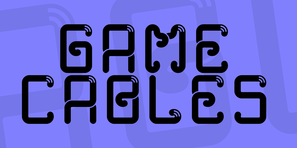 遊戲捲曲字體 下載