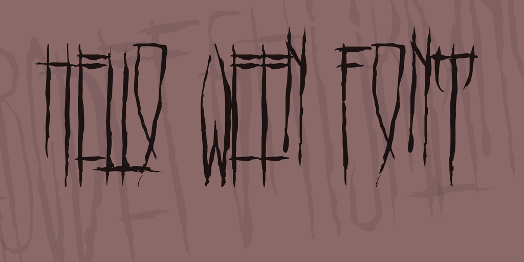 手繪萬聖節字體 下載