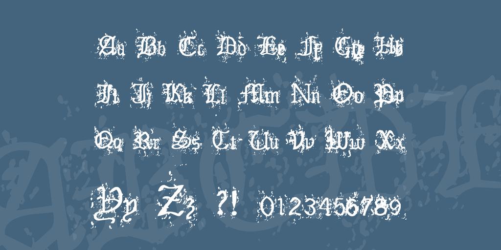 老舊英文字體 下載