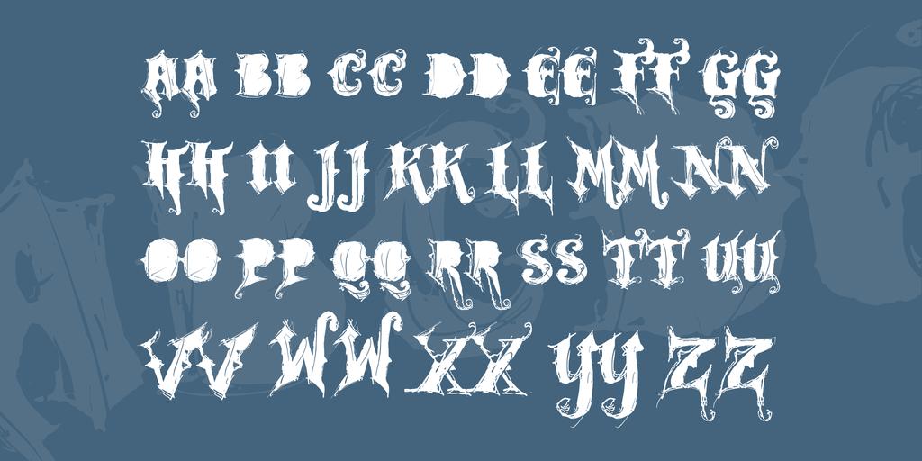 搖滾重金屬字體 下載