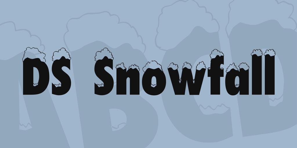 積雪字體 下載