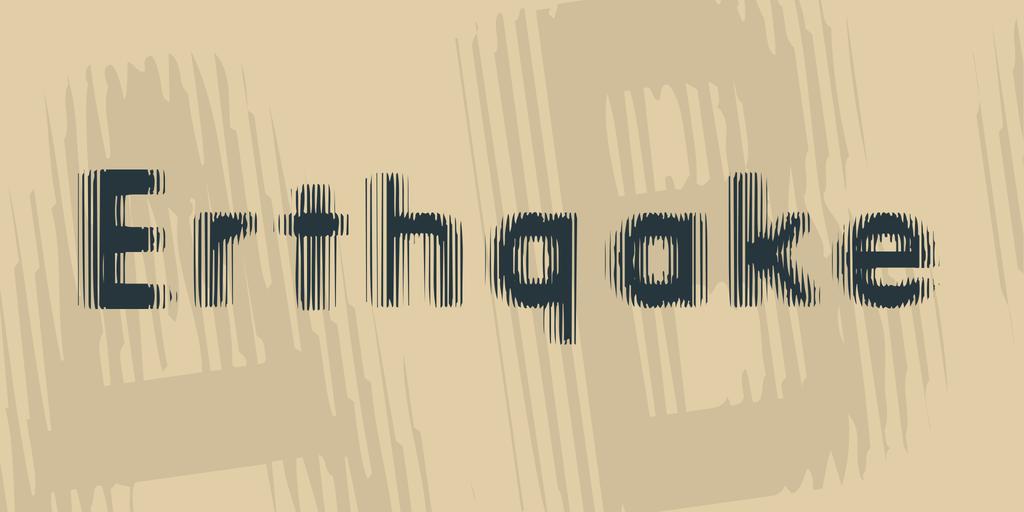 地震字體 下載