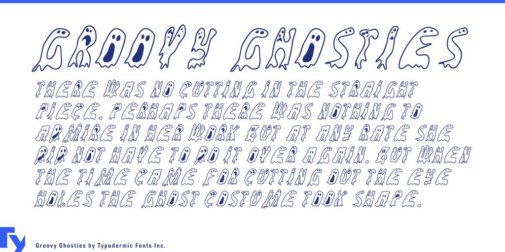 幽靈字體 下載