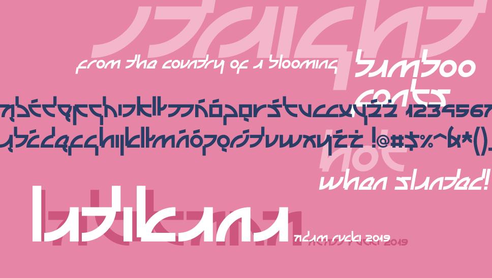 美式日文字體 下載