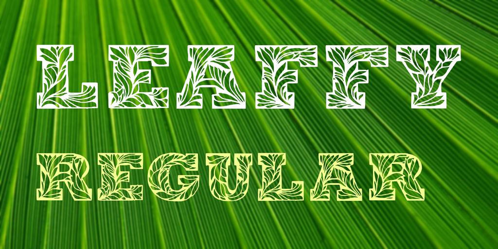 樹葉裝飾字體 下載
