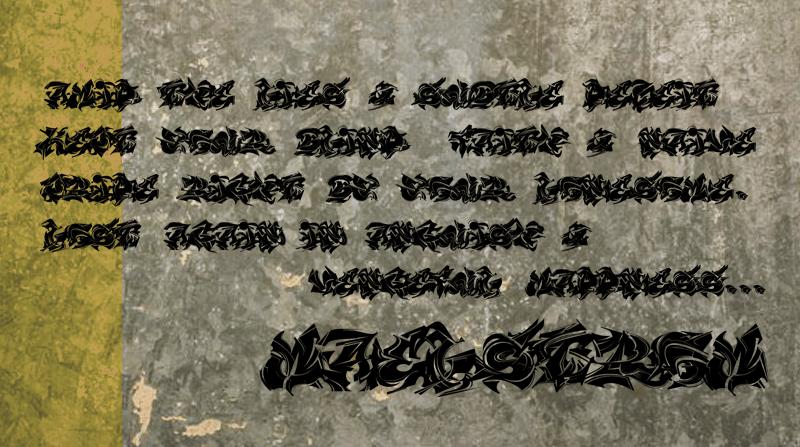 街頭噴漆字體 下載