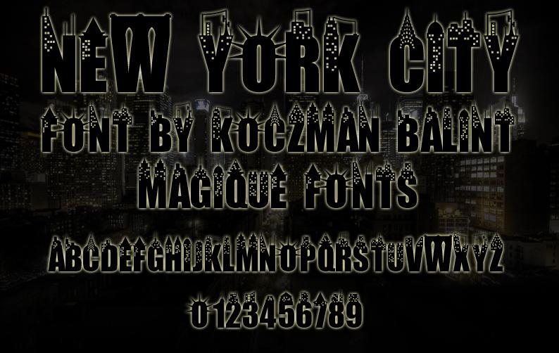 紐約裝飾字體 下載