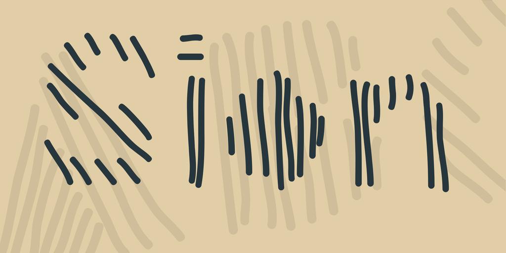 手寫條紋字體 下載