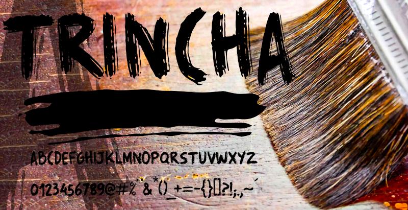 油漆刷字體 下載