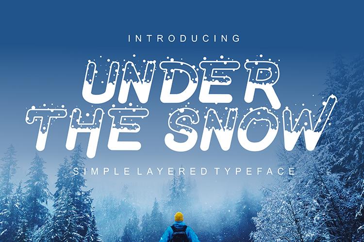 冬季下雪字體 下載